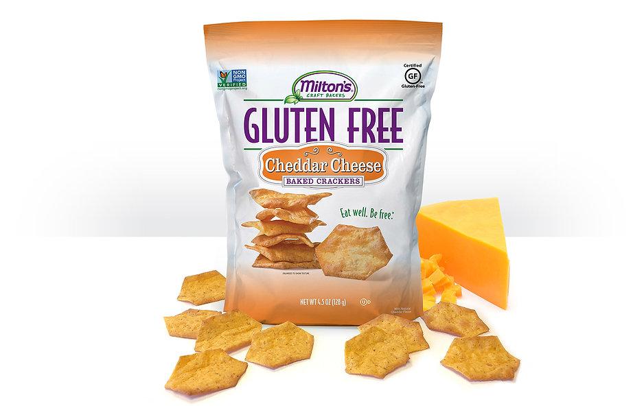 Gluten Free Cheddar Cheese Crackers, NON-GMO