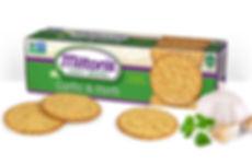 Milton's Gourmet Garlic & Herb Crackers NON-GMO