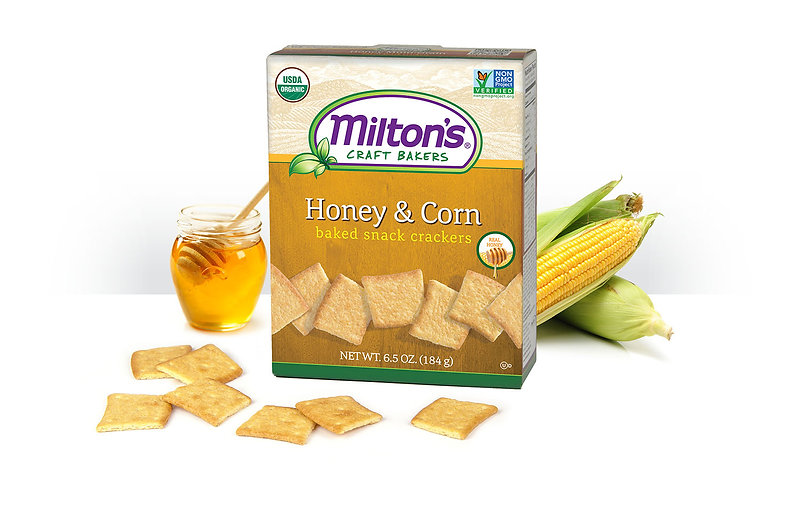 Organic Snack Honey & Corn Crackers NON GMO