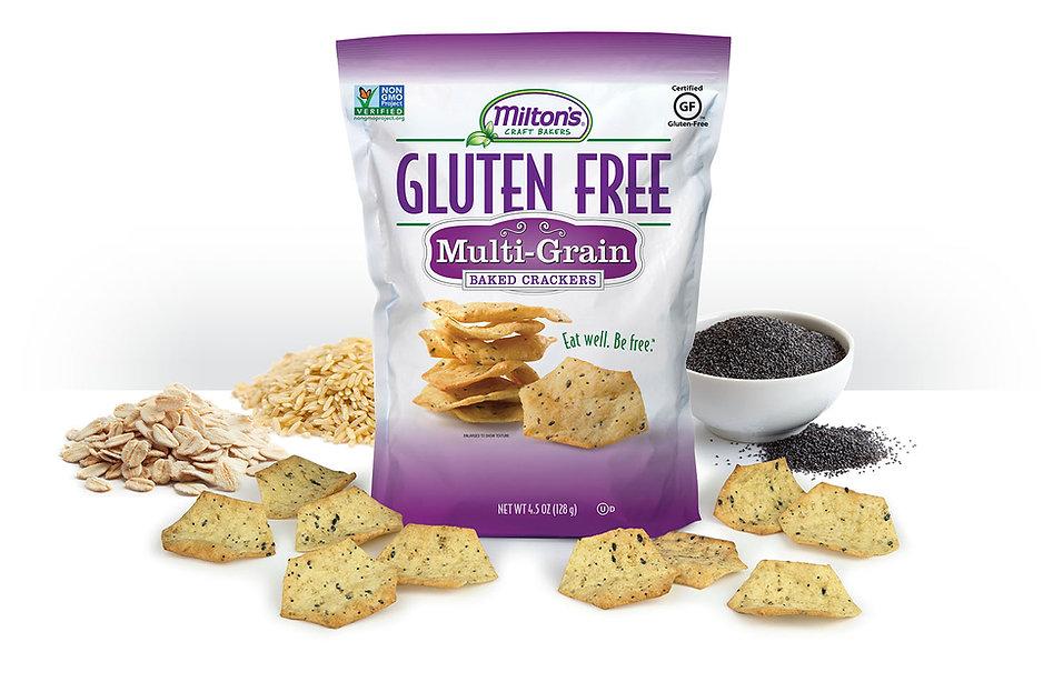 Milton's Gluten Free Multi-Grain Crackers, NON-GMO