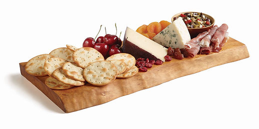 Milton's Organic Olive Oil & Sea Salt Cracker platter with fresh cherries & prosciutto