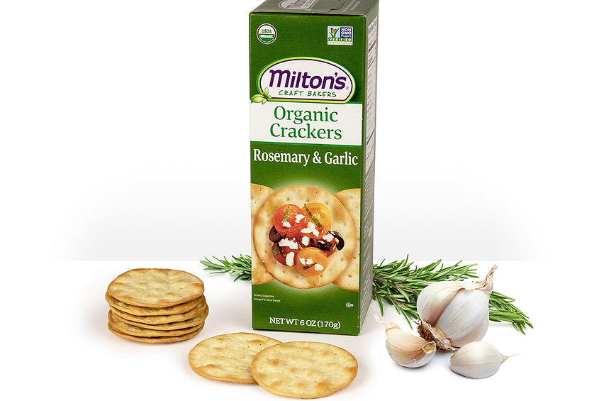 Milton's Organic Rosemary & Garlic Crackers, NON-GMO