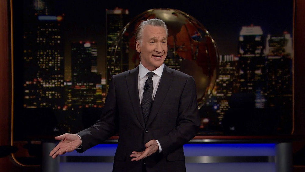Bill Maher addresses the crowd on Real Time with Bill Maher