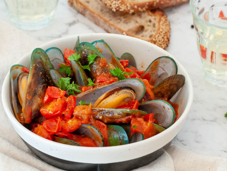 Greenshell Mussels in Tomato Chilli Sauce