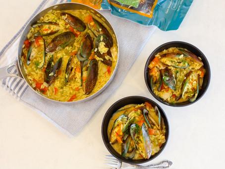 Saffron Orzo Mussels