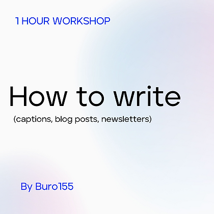 Writing Unlocked: workshop