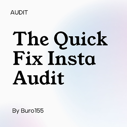The Instagram Quick Fix Audit