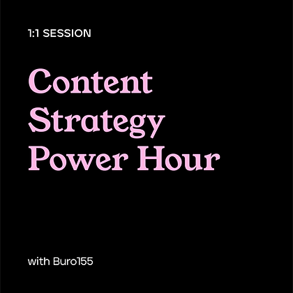 Content Strategy Power Hour