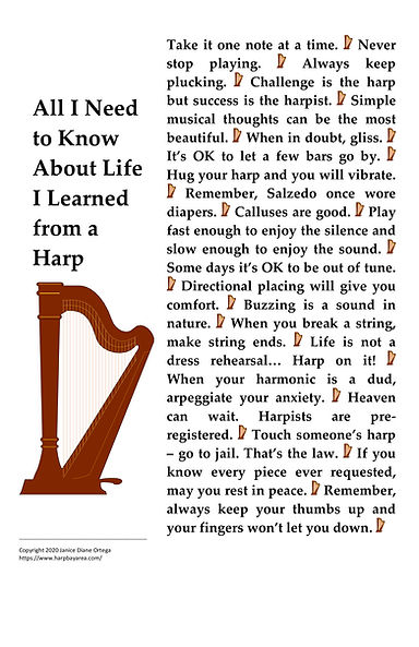Poster All I Need to Know About Life I Learned from a Harp.