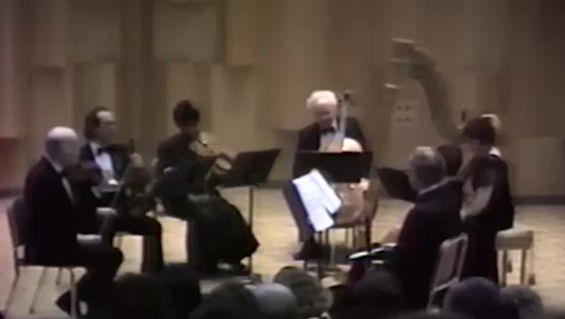 Introduction and Allegro for harp, flute, clarinet, and string quartet.  Maurice Ravel (1905).    Janice Ortega, Harp, accompanied by Music Faculty of California State University East Bay.Roberta Brokaw, flute. William Wohlmacher, clarinet. Allan Gove, cello. Nathan (Nate) Rubin, violin. Eric Hanson, violin. Joffria Whitfield, viola.