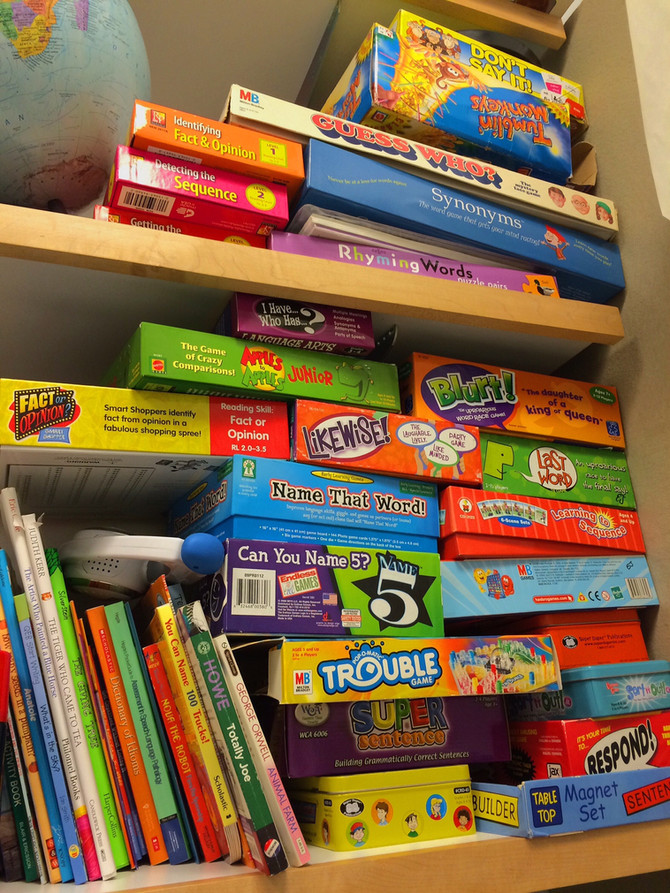 Games that Support Language and Reasoning Skills