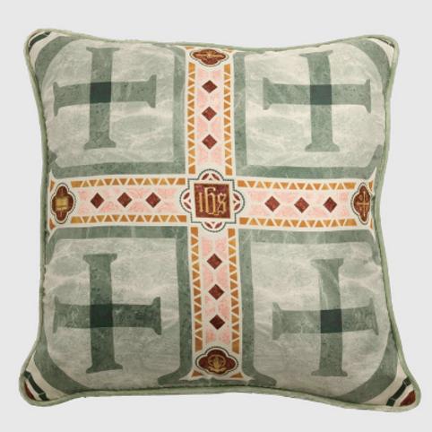 Jerusalem Cross Silk Pillow