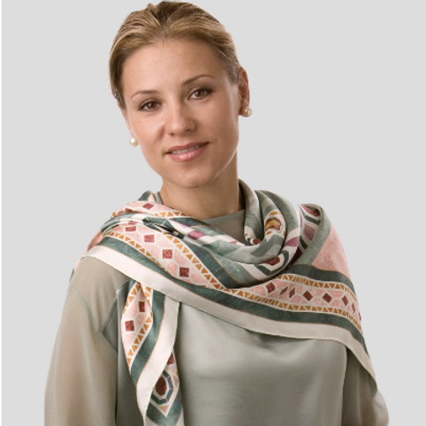 Jerusalem Cross Silk Scarf