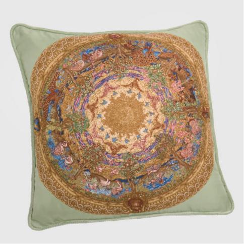 Creation of the Birds Silk Pillow