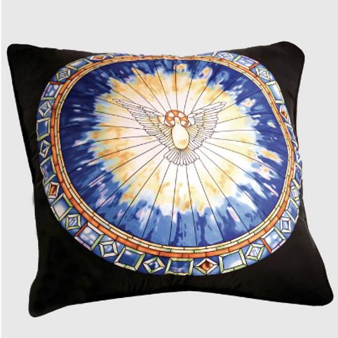 Tiffany Holy Spirit Window Silk Pillow
