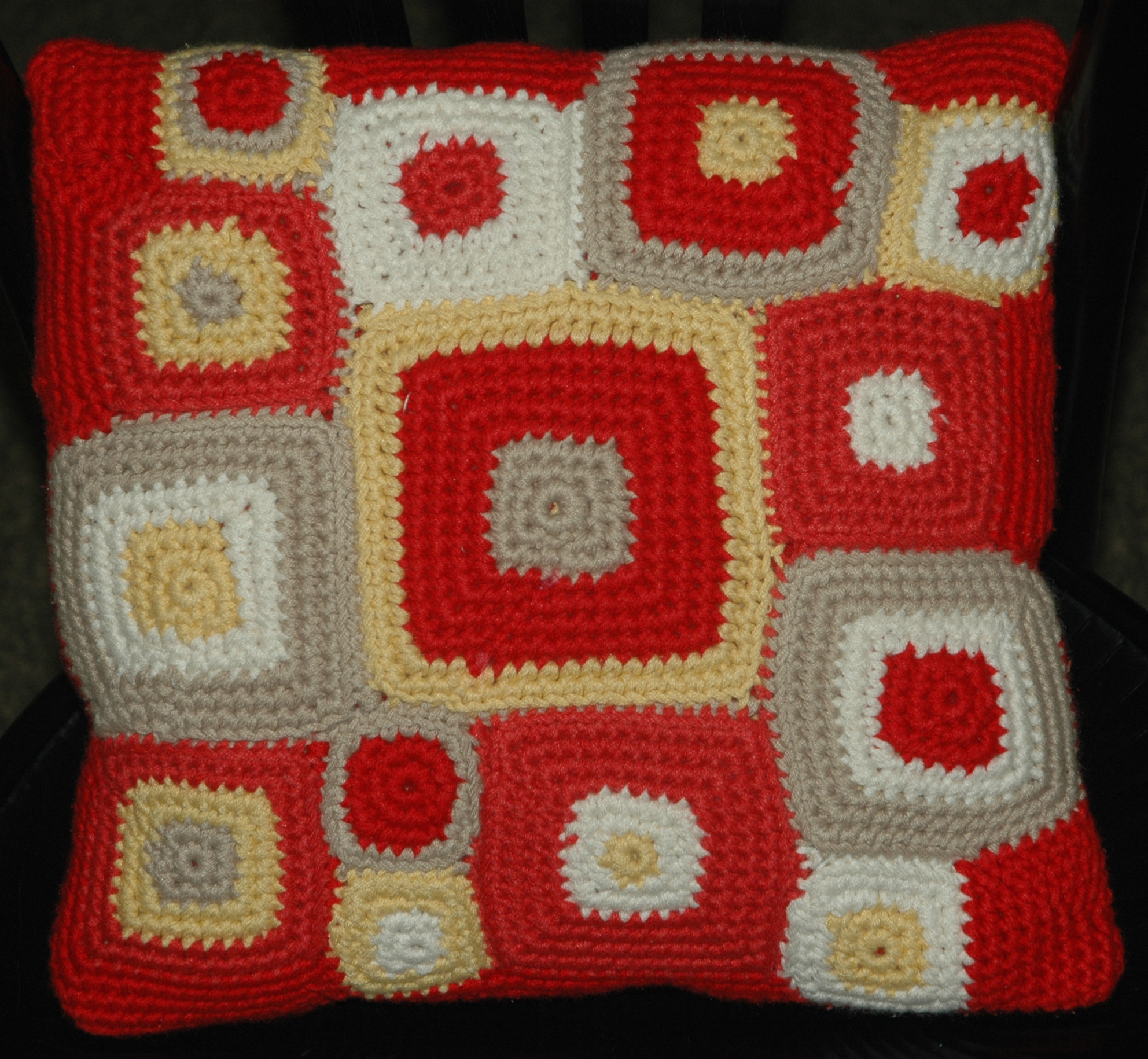 Retro Squares Pillow