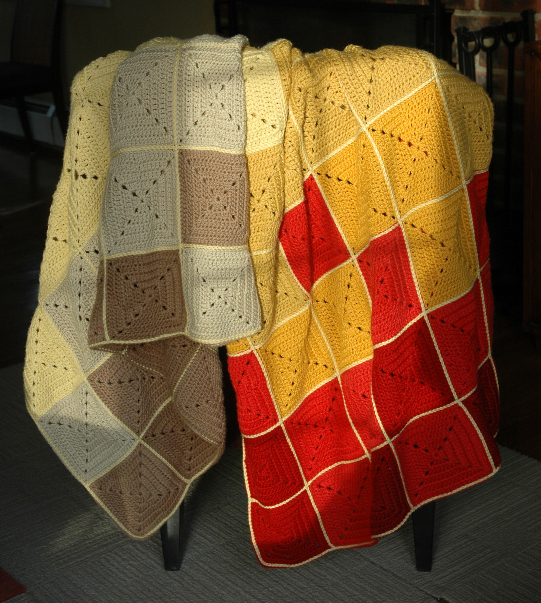 Ombre Squares Afghan