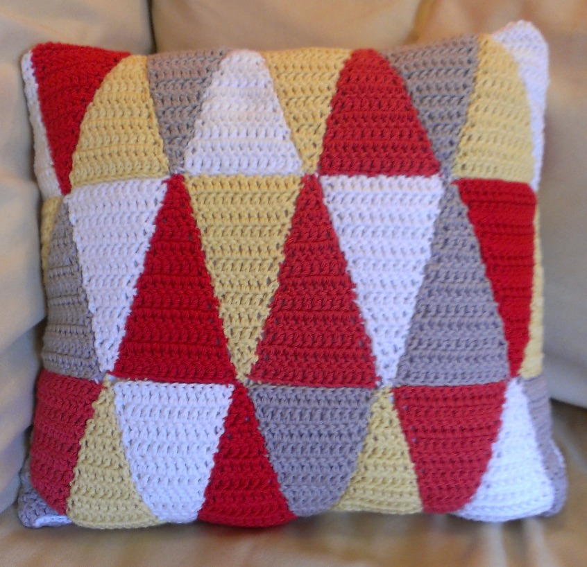 Retro Triangle Pillow