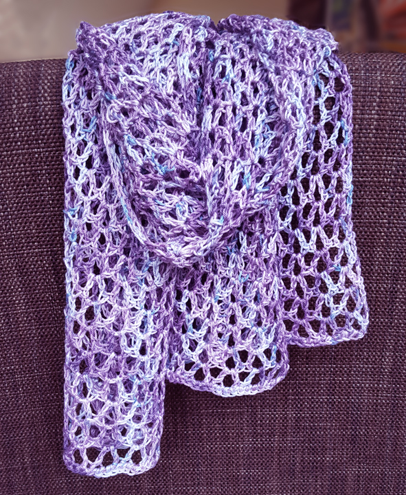 Purple Mesh Scarf