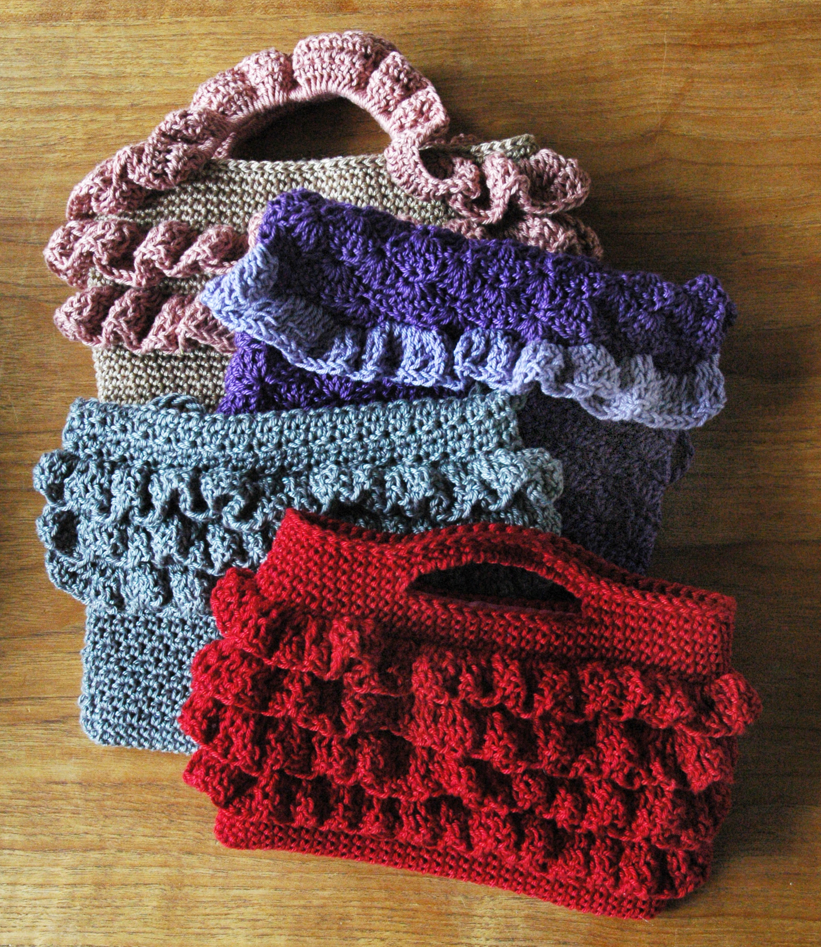 Ruffled Purses