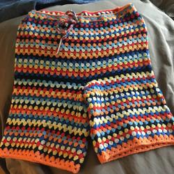Granny Stripe Shorts