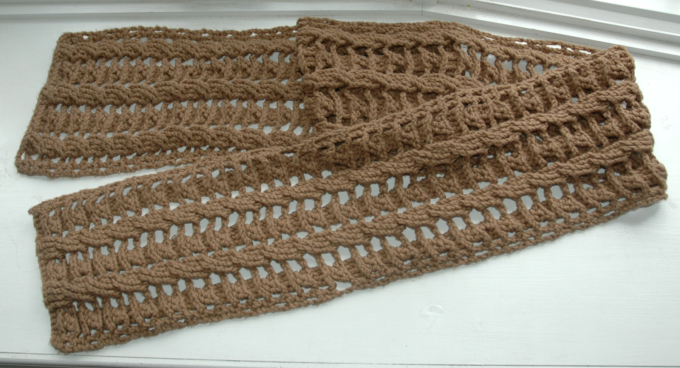Plush Cable Scarf