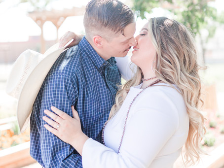Engagement Session at the Texas Tech Campus