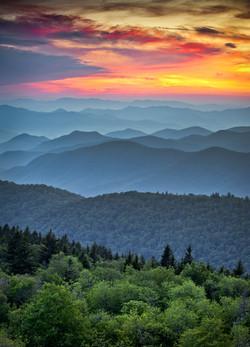 Blue Ridge Parkway Scenic Landscape Appa