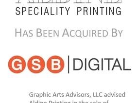 Bringing Craftsmanship And Innovation Together:  GSB Digital Acquires Aldine Printing