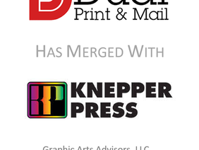 Graphic Arts Advisors Announces Merger  of Dual Print & Mail with Knepper Press