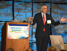 Mark Hahn presented Economic Forecast for the printing, packaging and related industries at Graph Ex