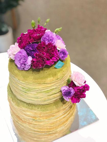 Double Tier Mille Crepe Floral