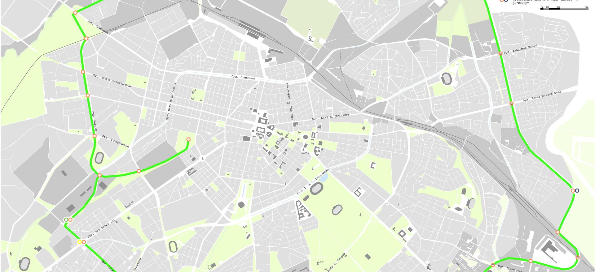© Зелена линия София Карта