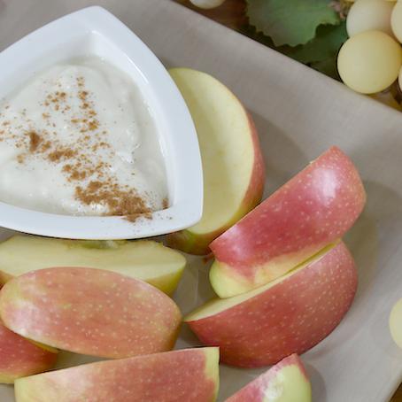 Recipe! Banana Ricotta Dip and Apple Wedges