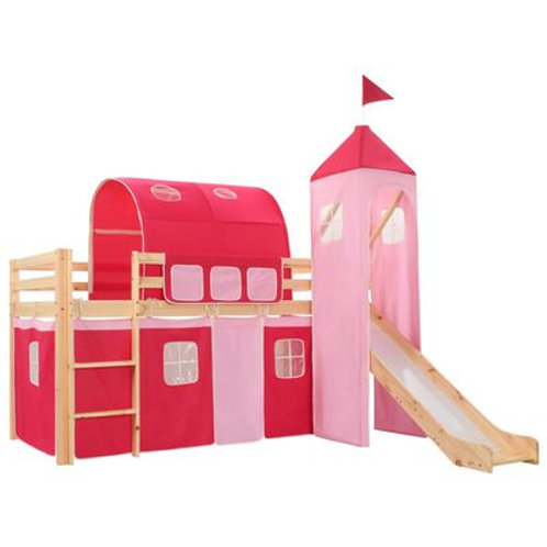 Princess Bed With Slide & Ladder
