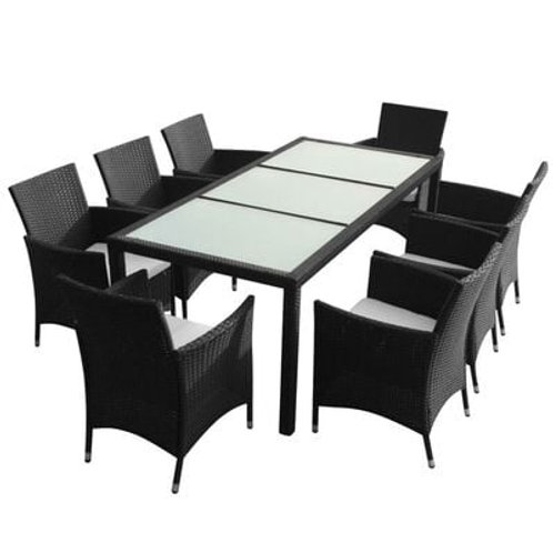 9 Piece Outdoor Dining Table Set