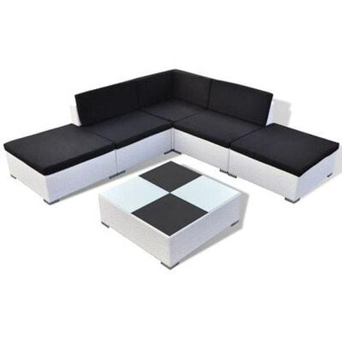 6 Piece Garden Lounger Set