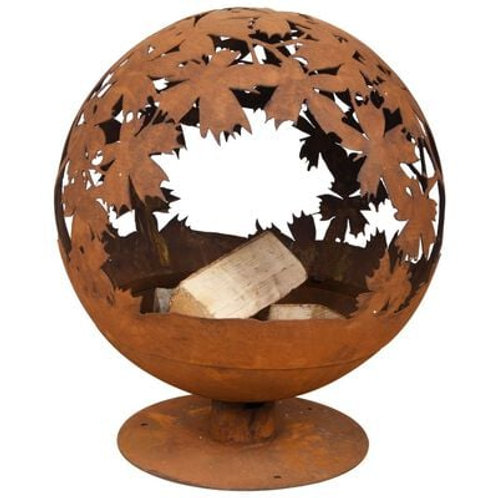 Sphere Fire Pit - Leaves