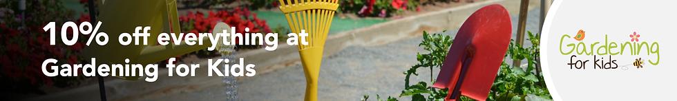 Gardening for Kids Banner