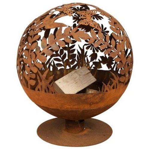 Sphere Fire Pit - Flowers