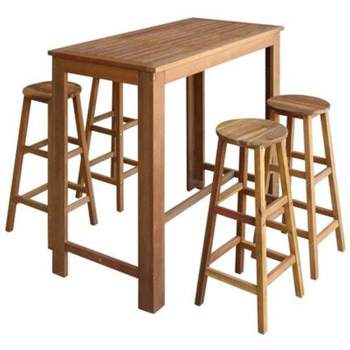5 Piece Table & Stool Set