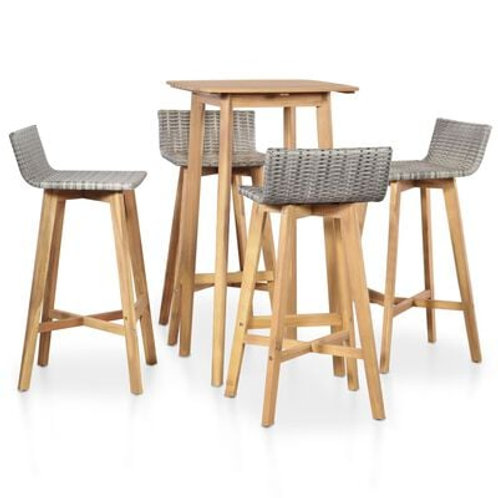 5 Piece Bar Table & Stools