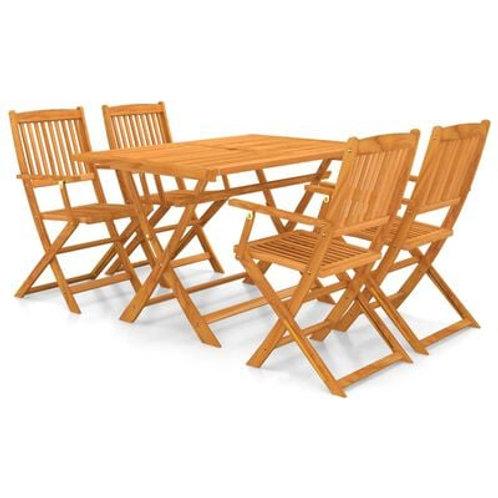 5 Piece Wooden Dining Set