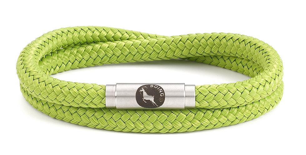Boing Soft Lime Skinny Softie Double Wrap Bracelet