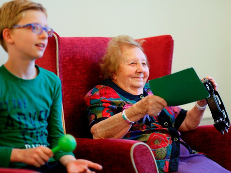 Intergenerational music-making with Music for Wellbeing CIC