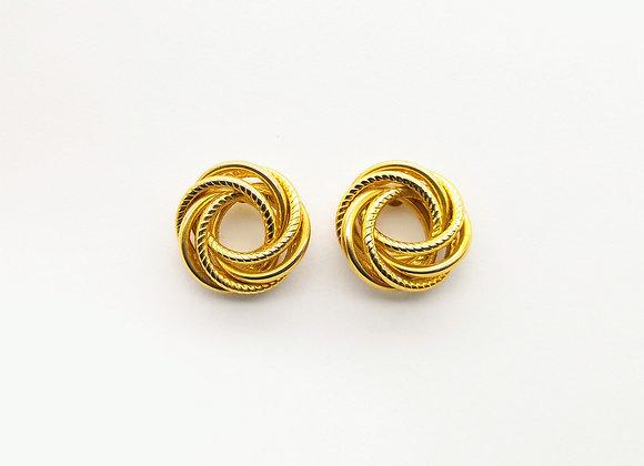 Yellow Gold Open Circular Ear Studs