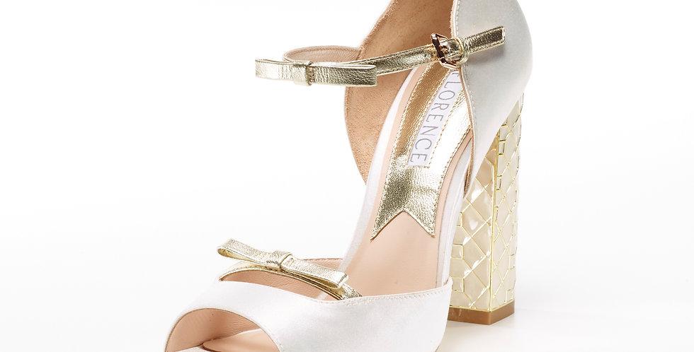 Michelle double bow front sandal