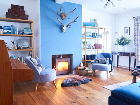 The spacious Blue Room
