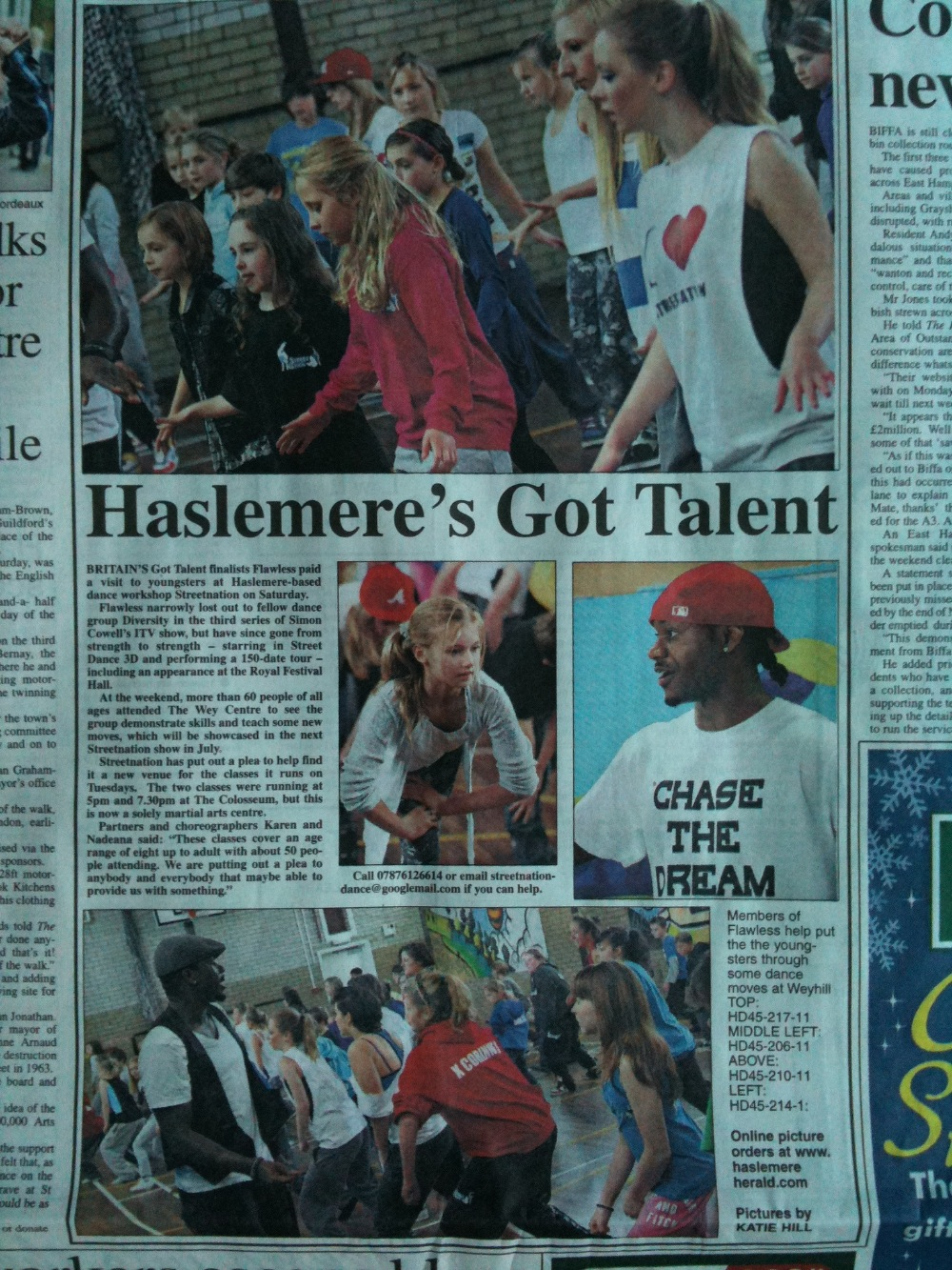 _Flawless Workshop_ Haslemere Herald Write up (Nov 2011)