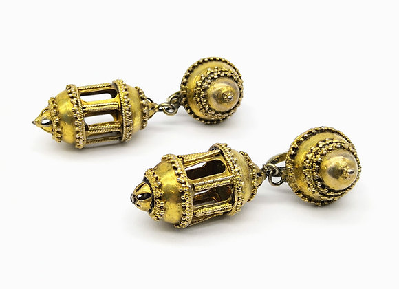 Silver Gilt Chandelier Earrings Indian c.1900